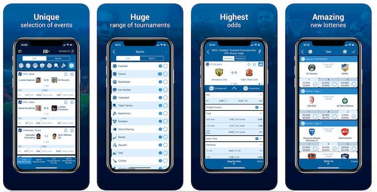 обзор функционала в мобильной версии 1хбет